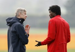 Emmanuel Adebayor Arsene Wenger Arsenal