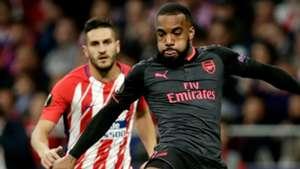 Alexandre Lacazette, Arsenal, Koke, Atletico Madrid