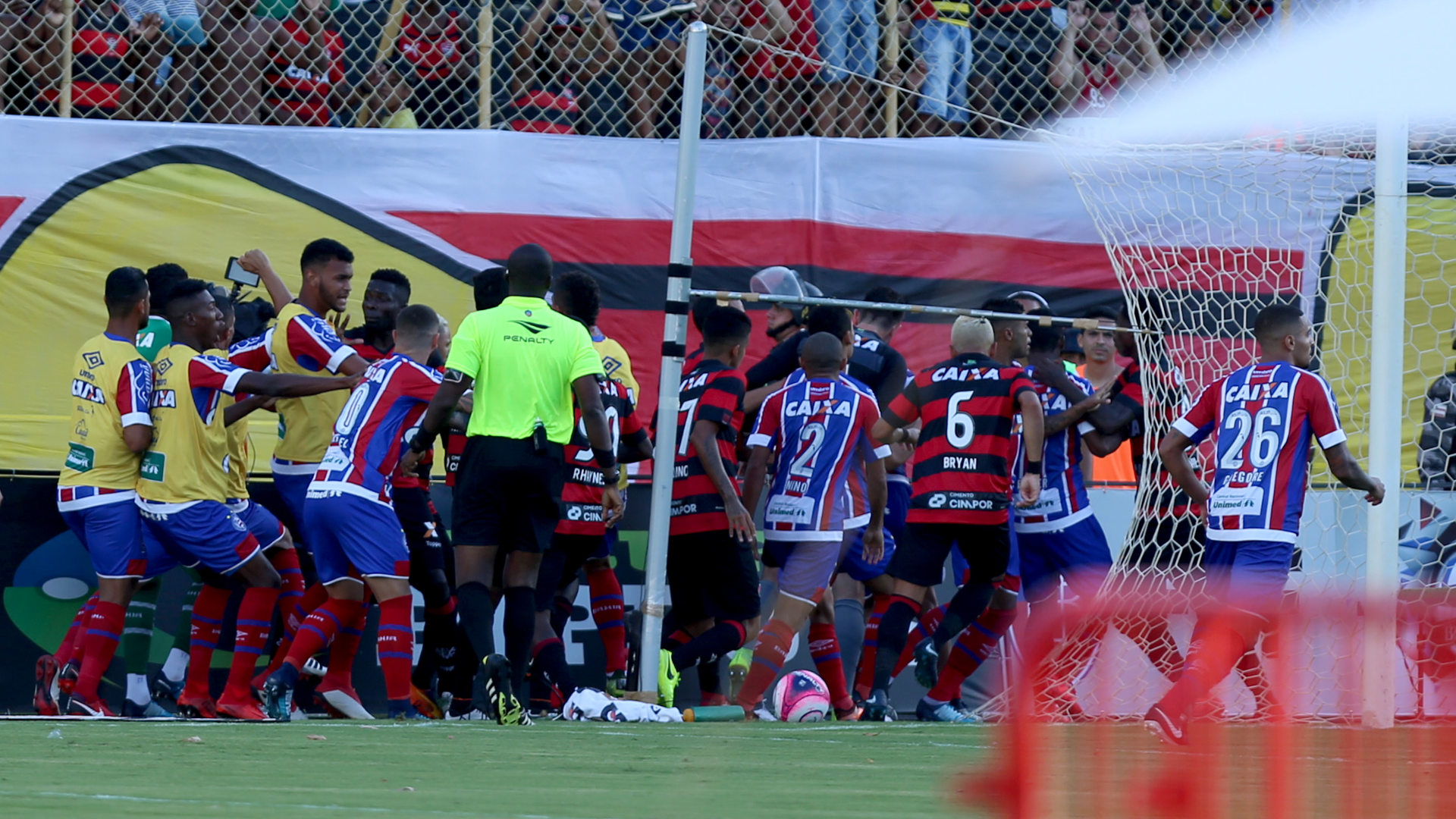 Brazilian derby abandoned amid red tide