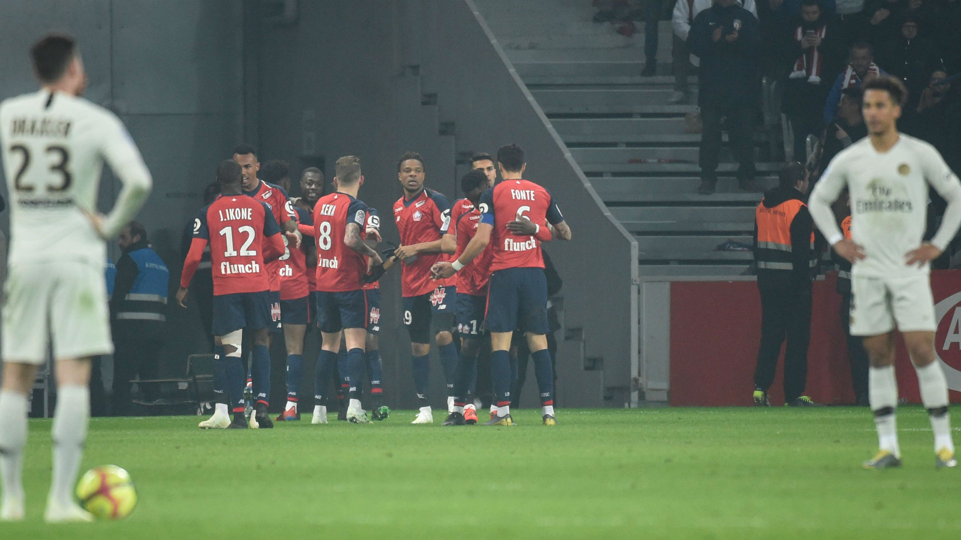 Lille Scupper PSG's Title Celebrations With 5-1 Win