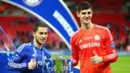 Eden Hazard Thibaut Courtois Chelsea 2014-15