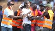 Gor Mahia fan who invaded the pitch.