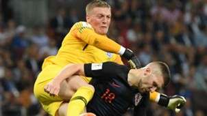 croatia england - jordan pickford luka modric - world cup - 11072018