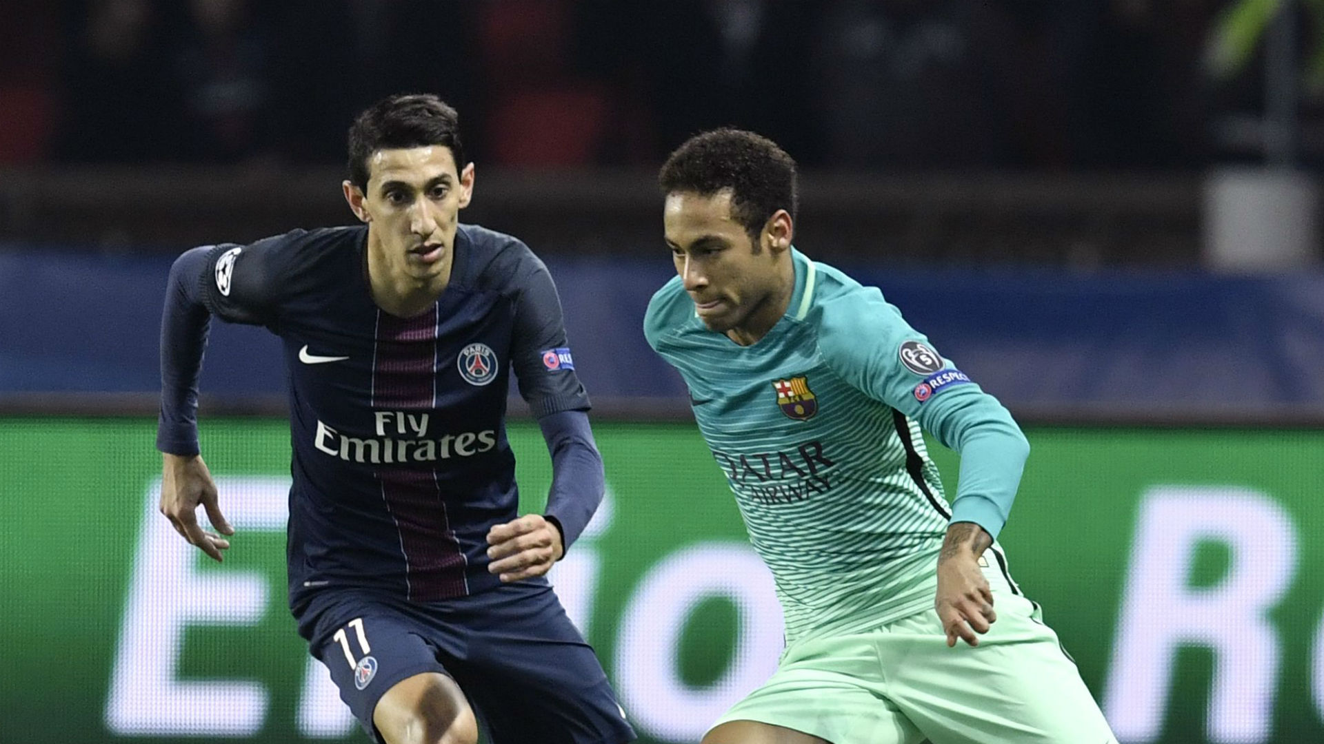 Angel Di Maria Neymar Barcelona PSG Champions League