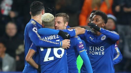 Jamie Vardy Riyad Mahrez Leicester City Manchester United
