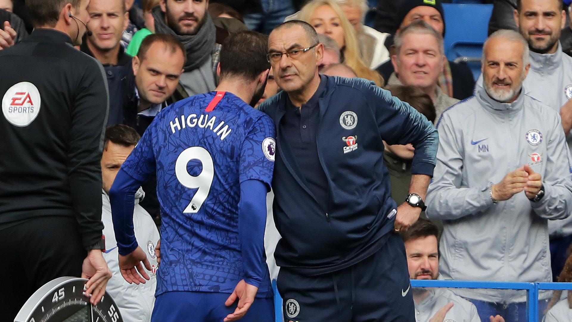 Gonzalo Higuain Maurizio Sarri Chelsea 2018-19