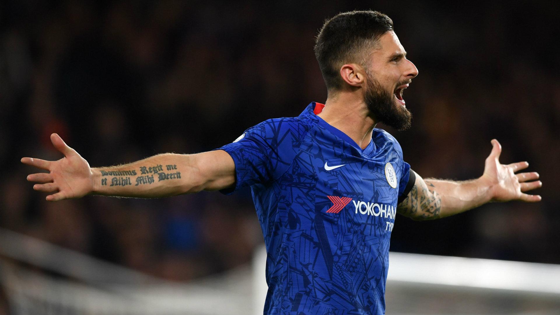 Olivier Giroud Chelsea vs West Ham 2019-20