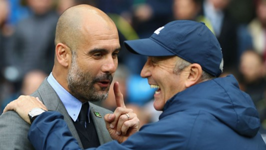 Pep Guardiola Manchester City Tony Pulis West Brom