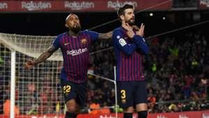Gerard Pique Arturo Vidal Barcelona Rayo Vallecano LaLiga 09032019