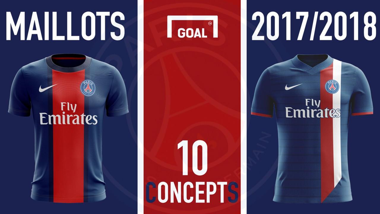 Maillot PSG Domicile 2017-2018 Goal concept