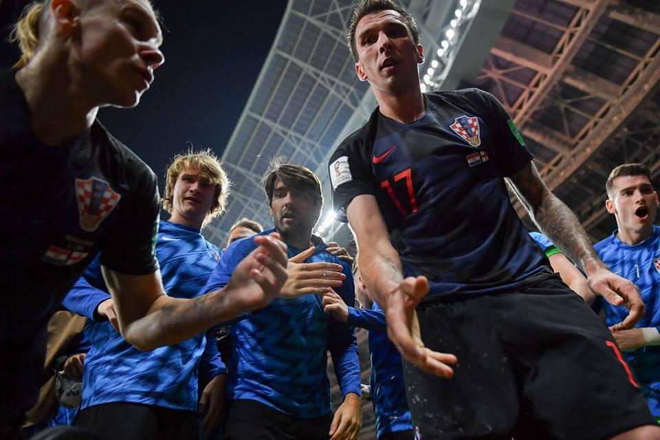 Croatia players celebrating vs England World Cup