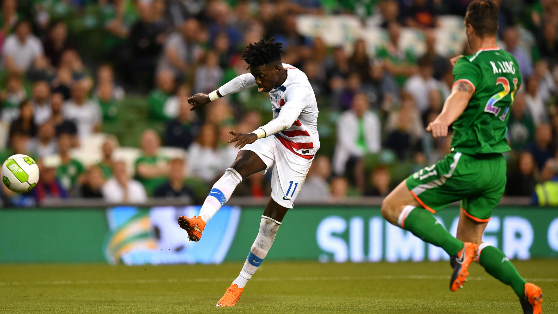 Tim Weah Ireland USA international friendly 2018