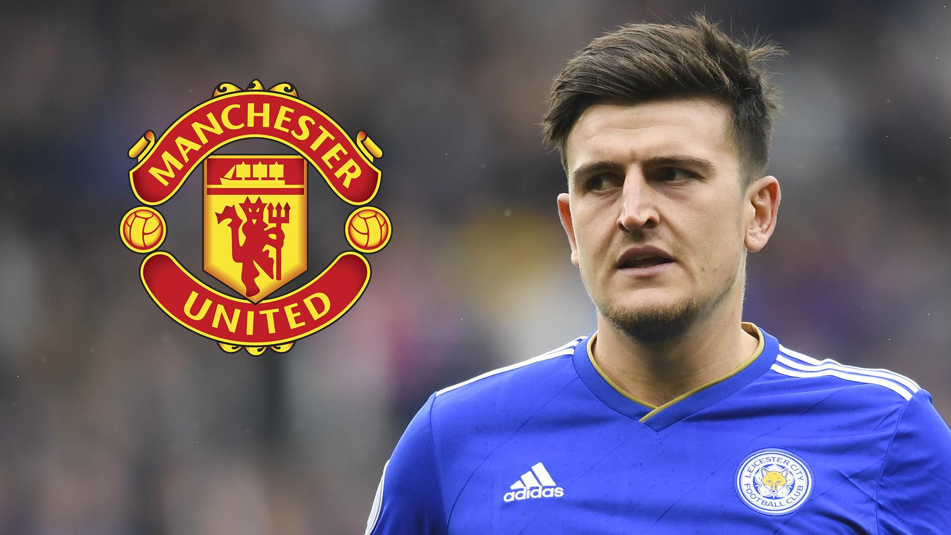Harry Maguire Leicester City Man Utd 2018