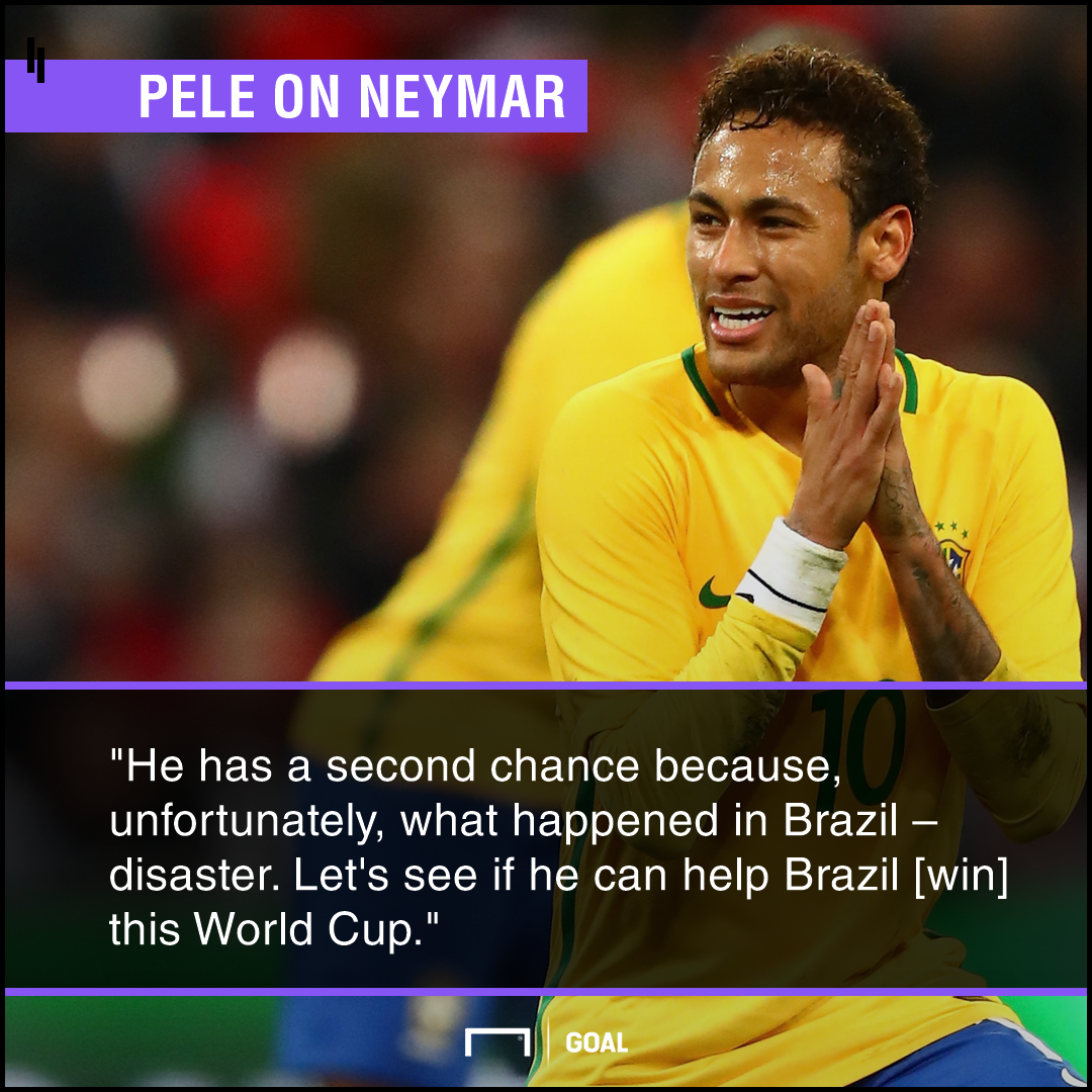 Neymar Pele World Cup second chance