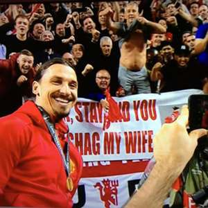Zlatan Ibrahimovic at Europa League final