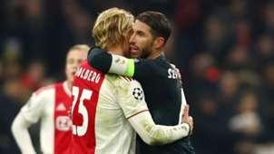 Kasper Dolberg Ajax Sergio Ramos Real Madrid 2019