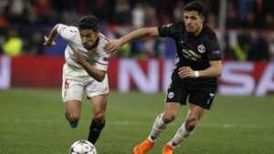 Jesús Navas y Alexis Sánchez Sevilla Manchester United 21022018