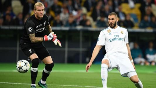 Loris Karius Karim Benzema Liverpool Real Madrid Champions League final 2018