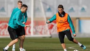 Cristiano Ronaldo Real Madrid olho roxo treino 23 01 18