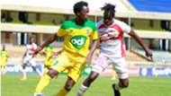 Kevin Kimani of Mathare United v Idah Khakali of Kakamega Homeboyz.j