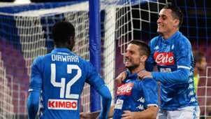 Napoli celebrating Empoli