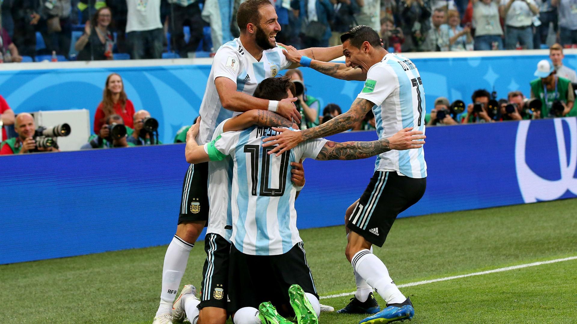 Higuain Messi Di Maria Argentina Nigeria World Cup Russi 2018 26062018