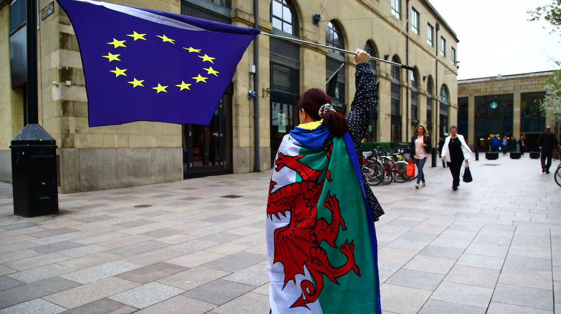 Cardiff Wales flag
