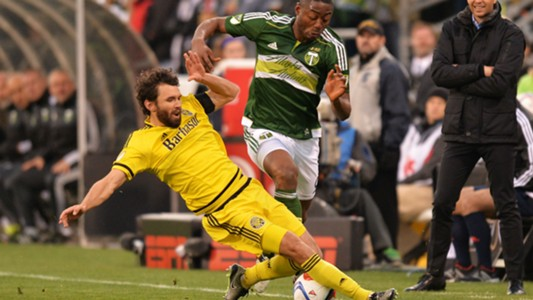 Michael Parkhurst Fanendo Adi Columbus Crew Portland Timbers MLS 12072016