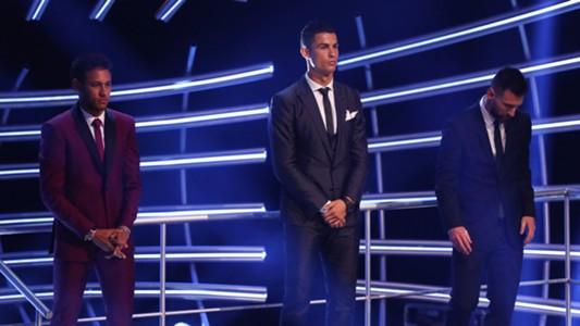 Neymar Cristiano Ronaldo Lionel Messi 2017 FIFA The Best 23102017