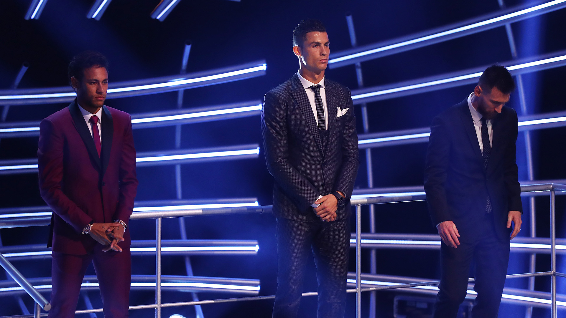 Neymar Cristiano Ronaldo Lionel Messi 2017 FIFA The Best 23102017