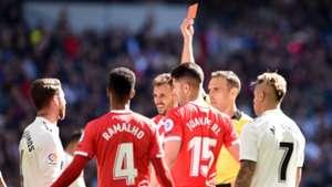 Sergio Ramos, red card vs Girona