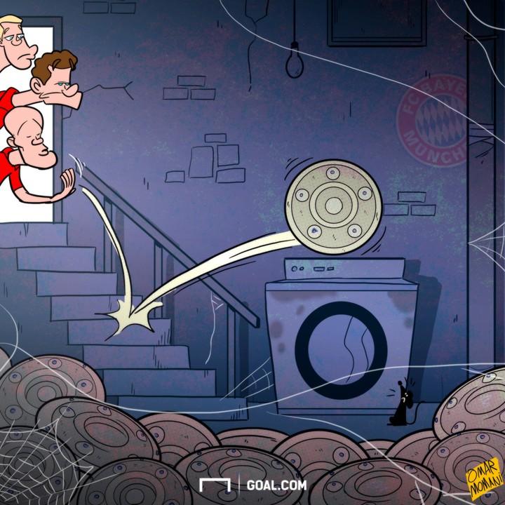 Cartoon - Bayern win the Bundesliga again