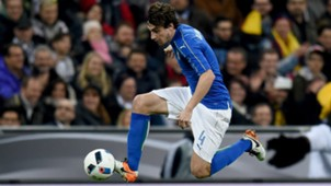 Matteo Darmian of Italy in action against Germany