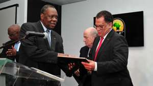 Danny Jordaan and Issa Hayatou