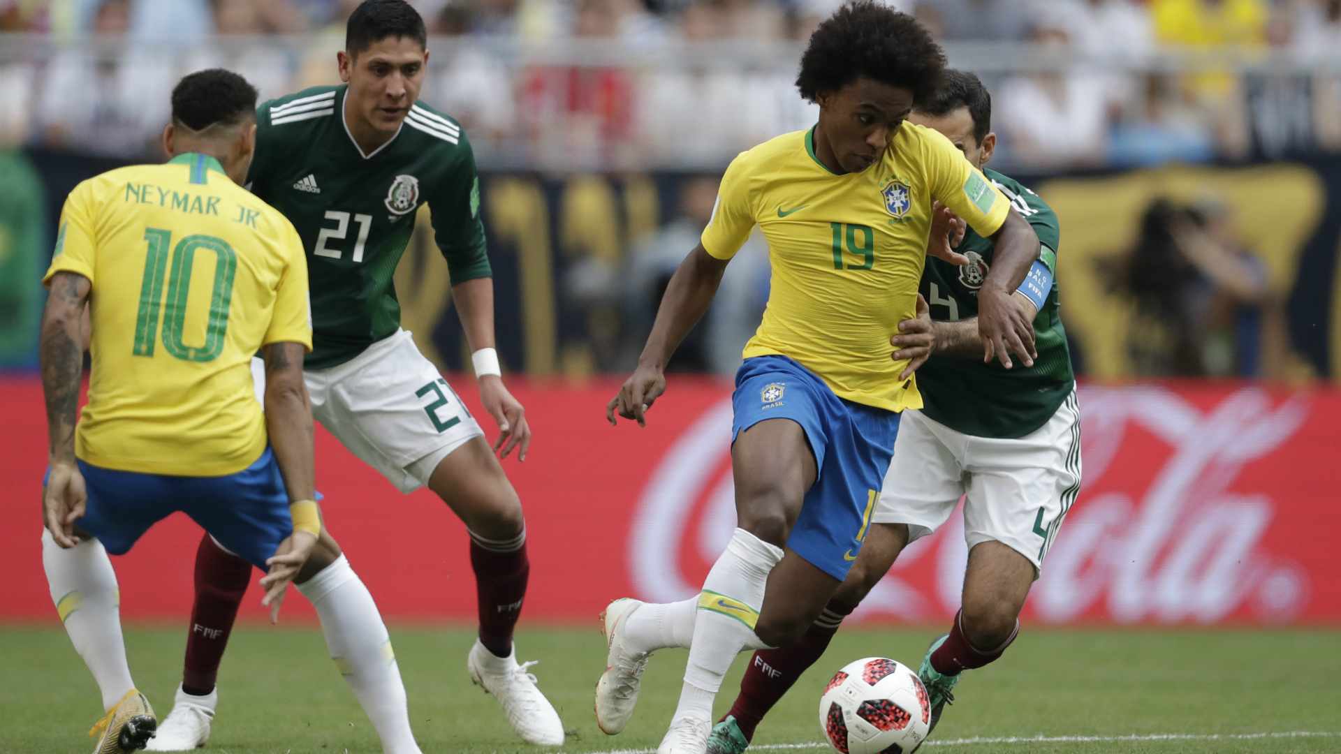 Willian Neymar I Brasil México I Copa do Mundo I 02 07 18