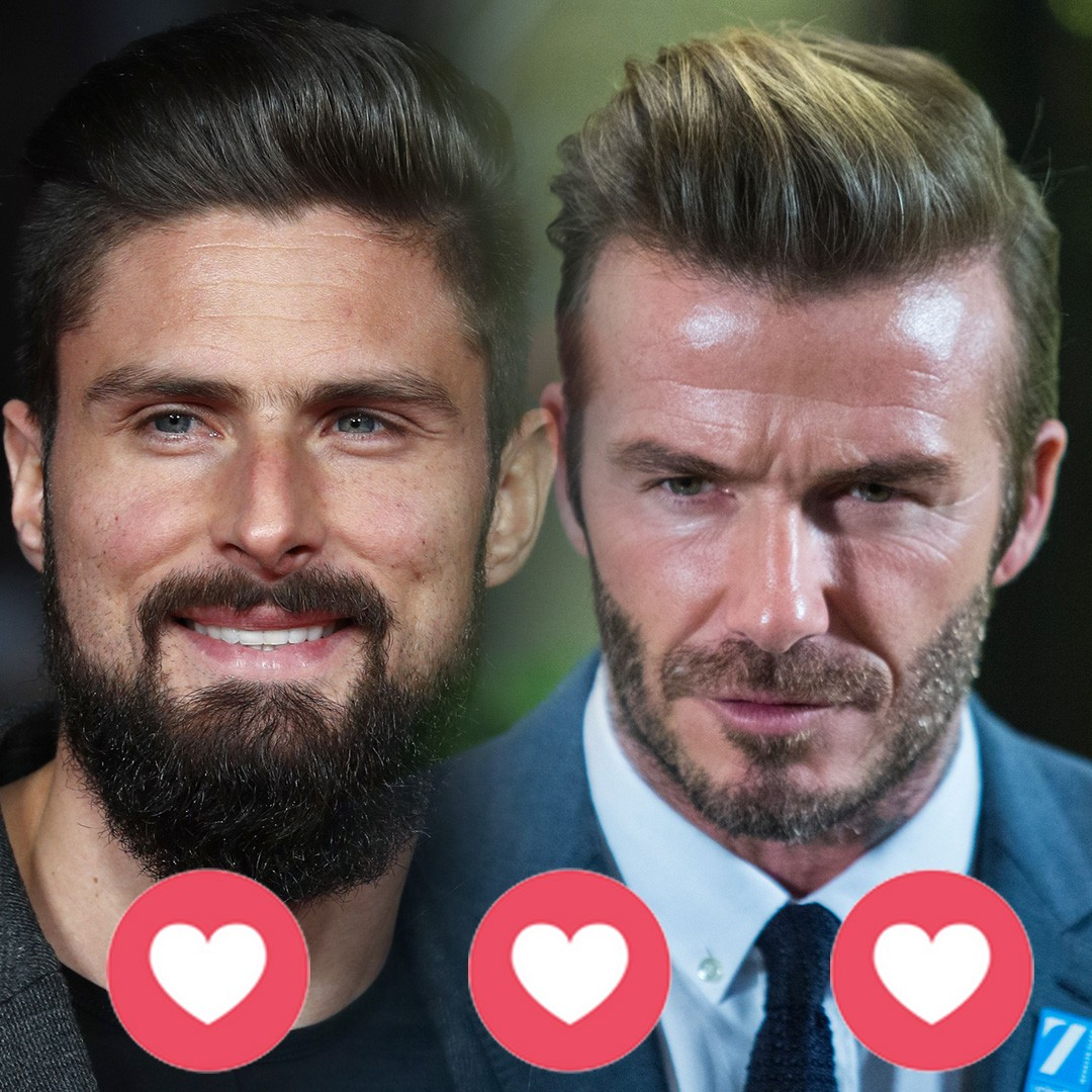 Beckham, Giroud and 23 the footballers with model good looks