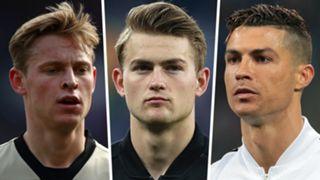 Frenkie de Jong Matthijs de Ligt Cristiano Ronaldo