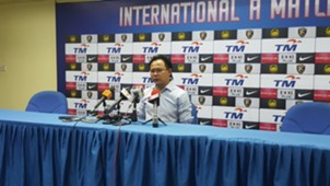 Malaysia head coach Ong Kim Swee in the post-match press conference following the Malaysia-Papua New Guinea friendly 11/10/2016
