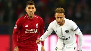 Neymar Roberto Firmino PSG Liverpool UEFA Champions League 28112018
