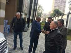 هاني أبو ريدة وأحمد شوبير وأحمد أحمد