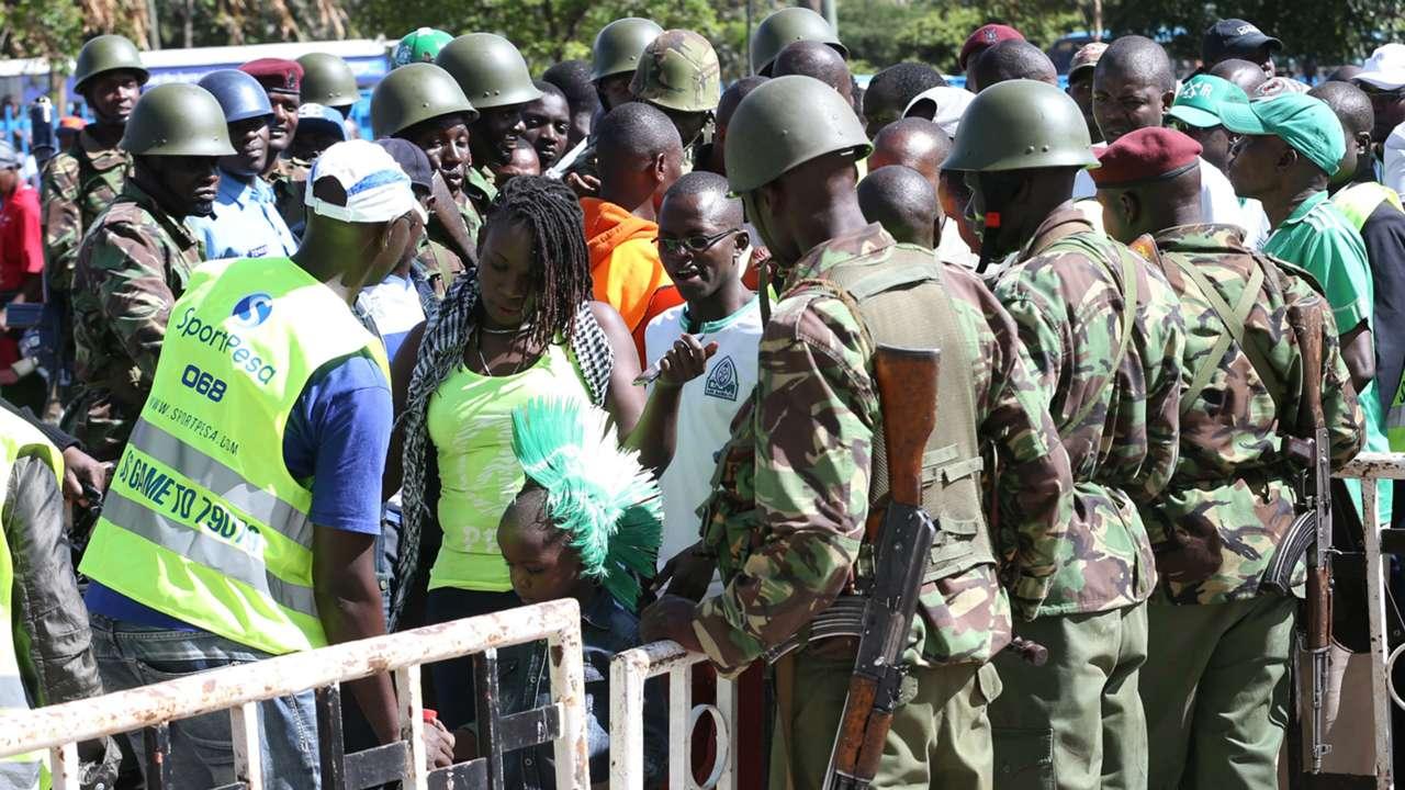 There was tight securiy at Nyayo Stadium.