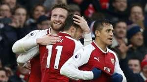 Alexis Sanchez Mesut Ozil Shkodran Mustafi Arsenal Tottenham