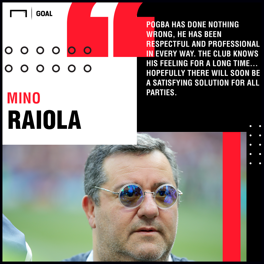 Mino Raiola on Paul Pogba