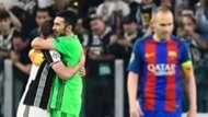 Buffon Iniesta Juventus Barcelona Champions League 11 04 2017