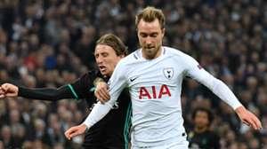Christian Eriksen, Luka Modric, Tottenham vs Real Madrid, 17/18
