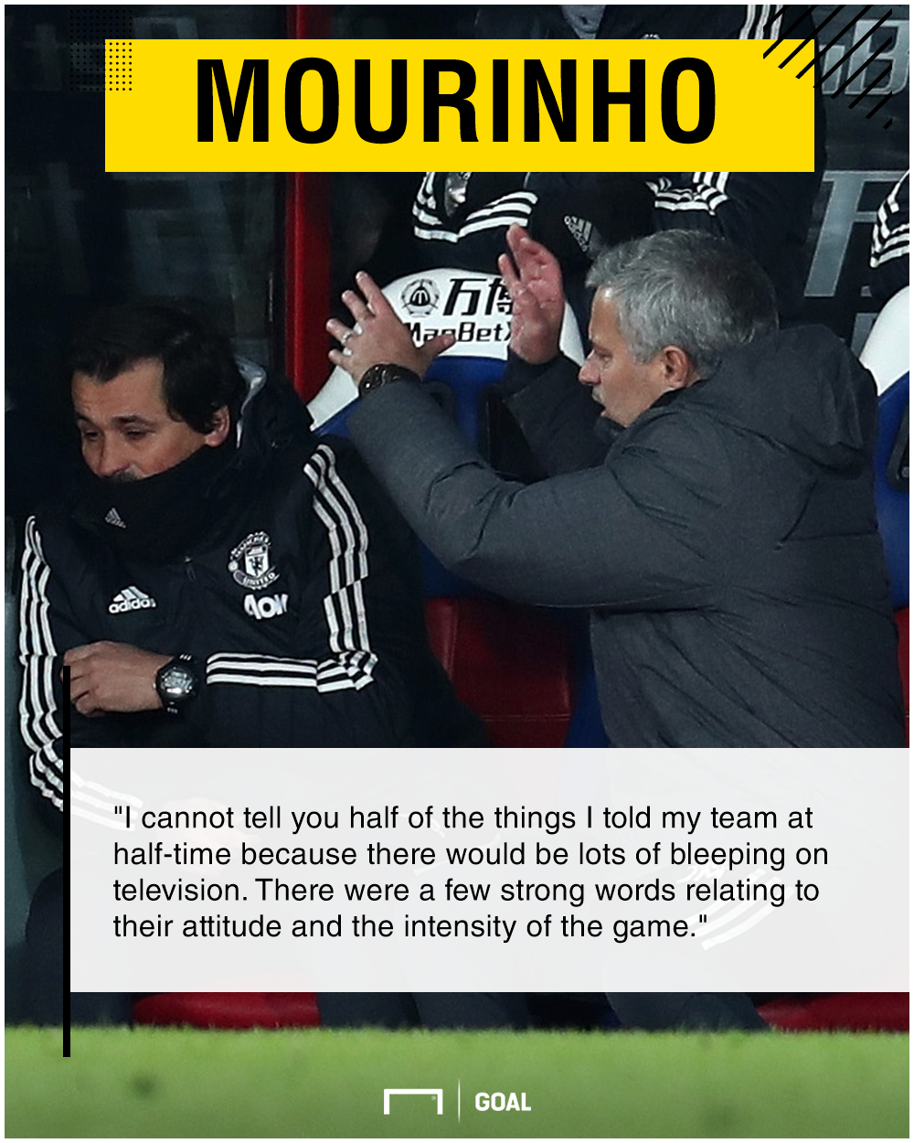 Jose Mourinho angry team talk