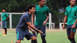 Luis Milla - Latihan Timnas Indonesia