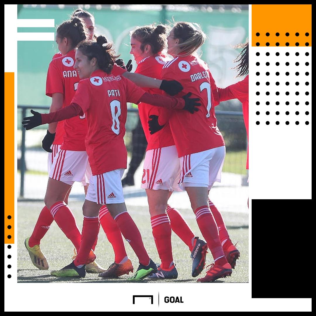 Benfica s women s team  The record-breaking team scoring goals ... 55910c29aa
