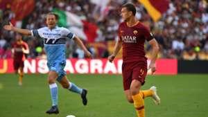 Edin Dzeko Roma Lazio