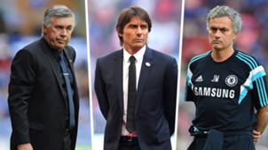 Chelsea managers Ancelotti Conte Mourinho